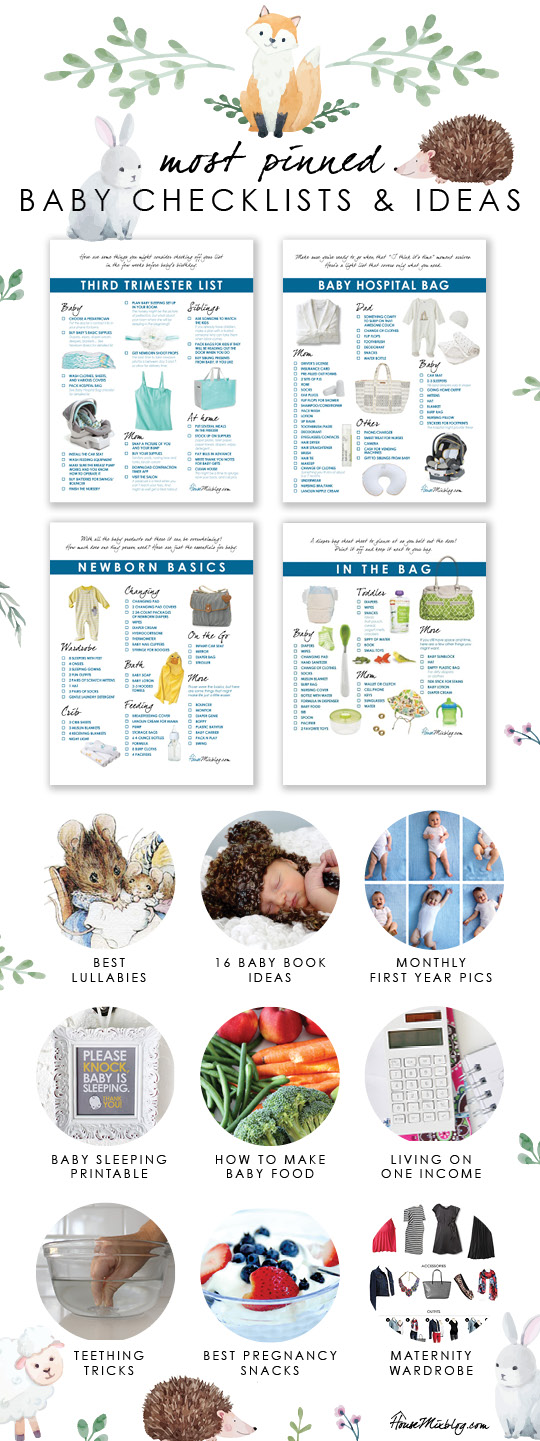 Most pinned baby checklists, printables and ideas House Mix