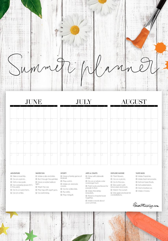 5 day printable calendar