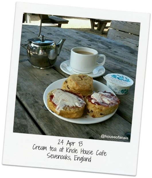 24 Apr 13 Knole Cream Tea UK