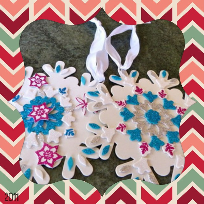 crafting snowflakes 2011
