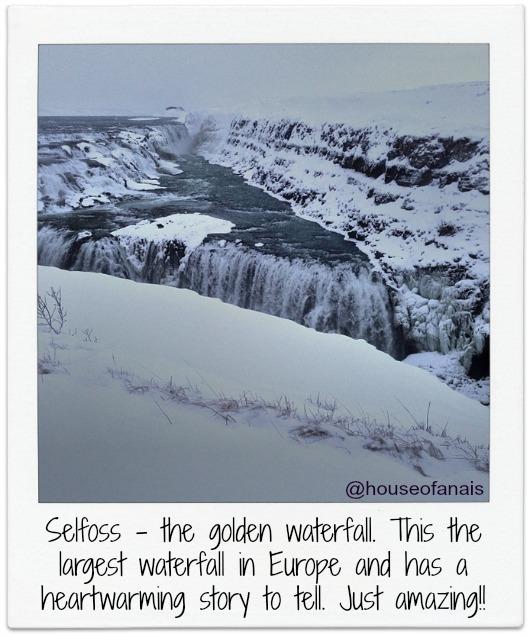 Selfoss waterfall from Golden circle