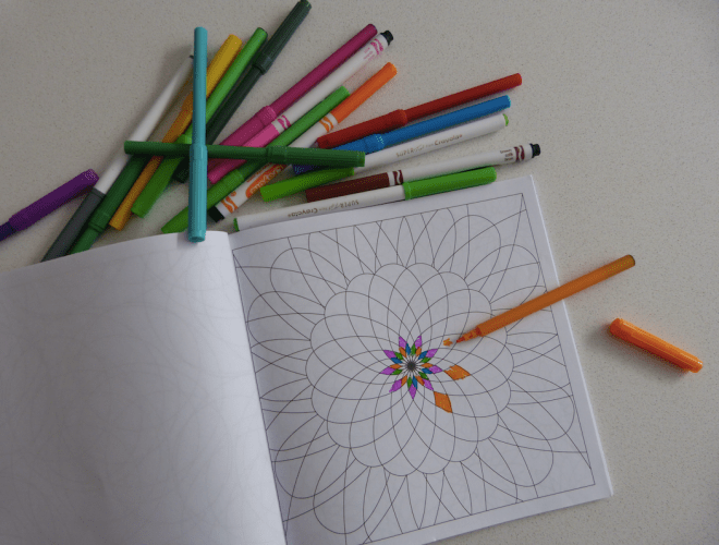 Creating patterns with doodle books