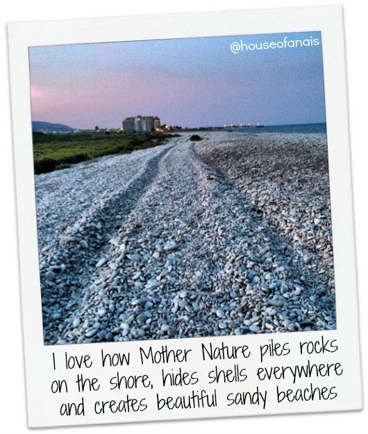 Stone beaches