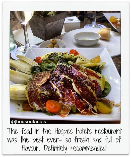 Hospes Sevilla food