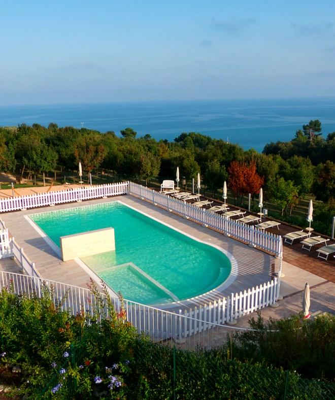 Goegeous views from hilltop eco villas of Contea dei Ciliegi in Pedaso