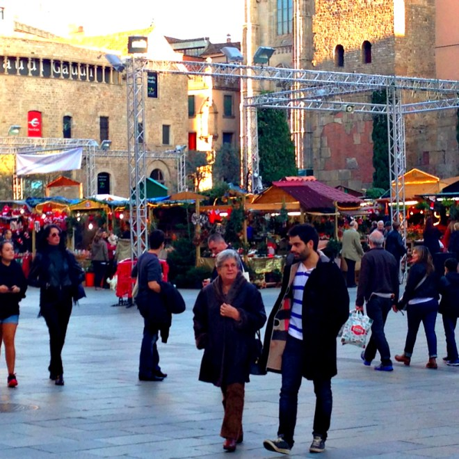 Christmas market in Barcelona