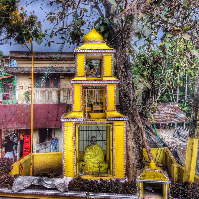 HIndu shrine in a village in Kerala