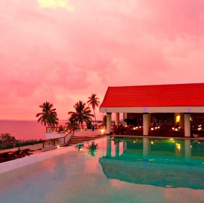 Pink sunset at Leela