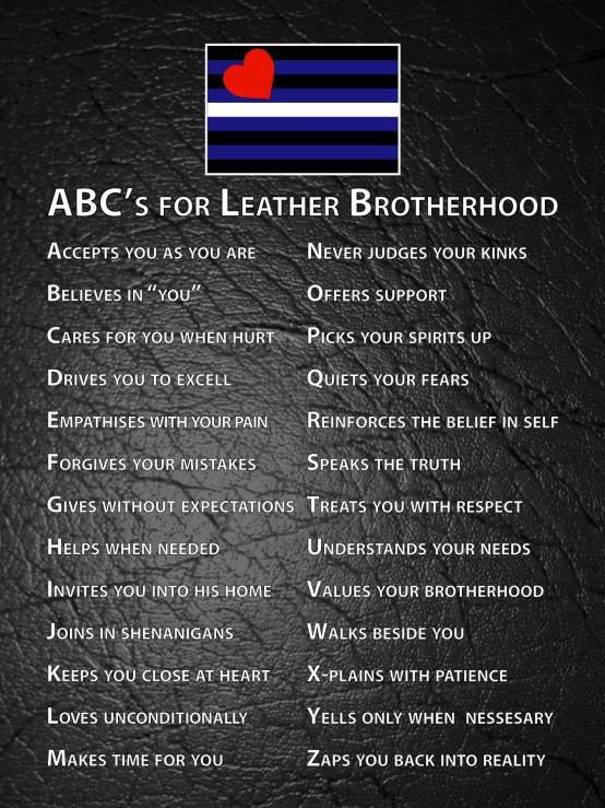 ABCs for Leather Brotherhood