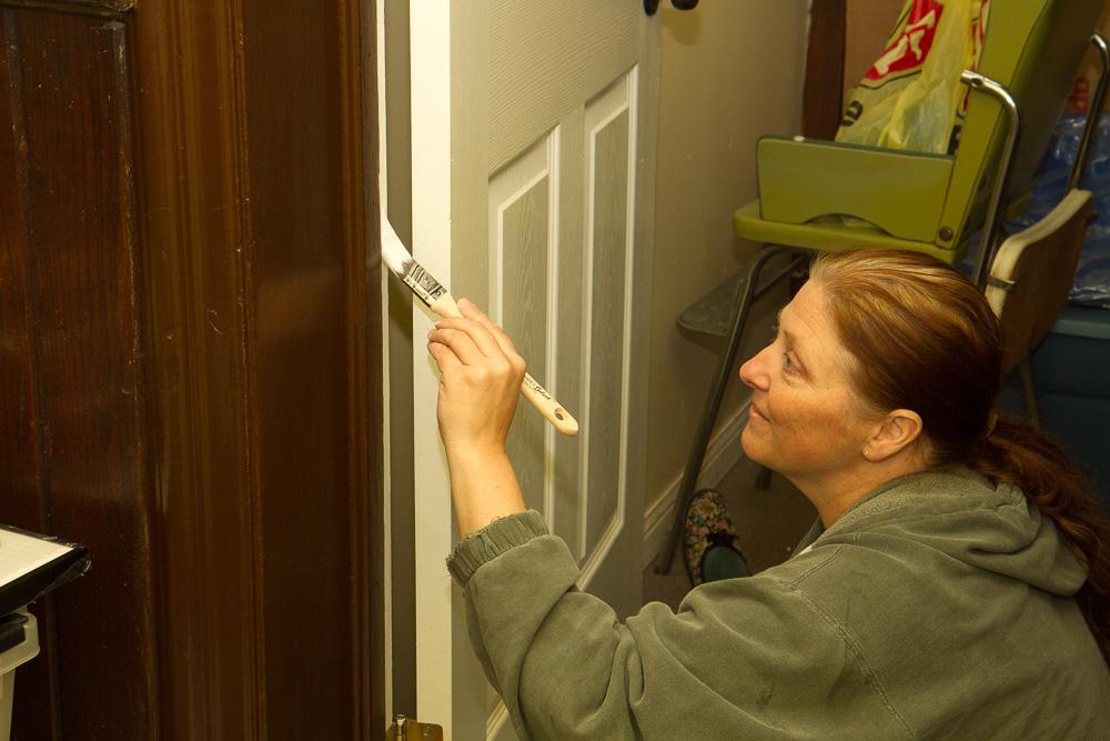 Painting doors...