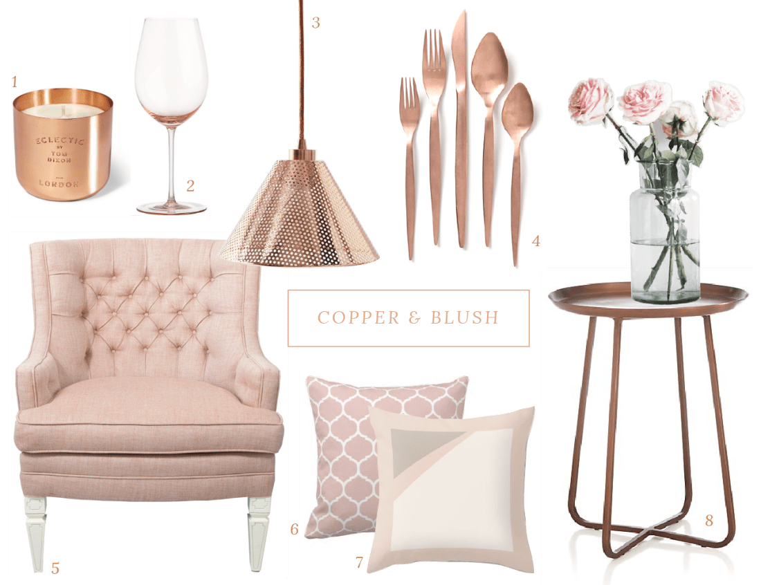 Colour crush copper blush house of hawkeshouse of hawkes for Room decor accessories