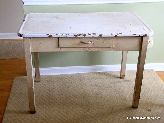 How To Update A Vintage Enamel Top Table House Of Hawthornes