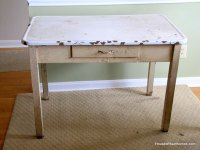 How To Update A Vintage Enamel Top Table - House of Hawthornes