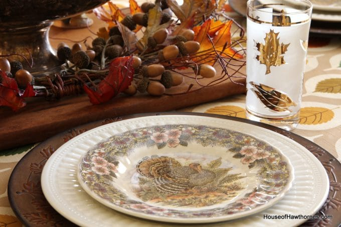 Bordallo Pinheiro Turkey Dinner Plates ... & Queens Thanksgiving Dinnerware - Castrophotos
