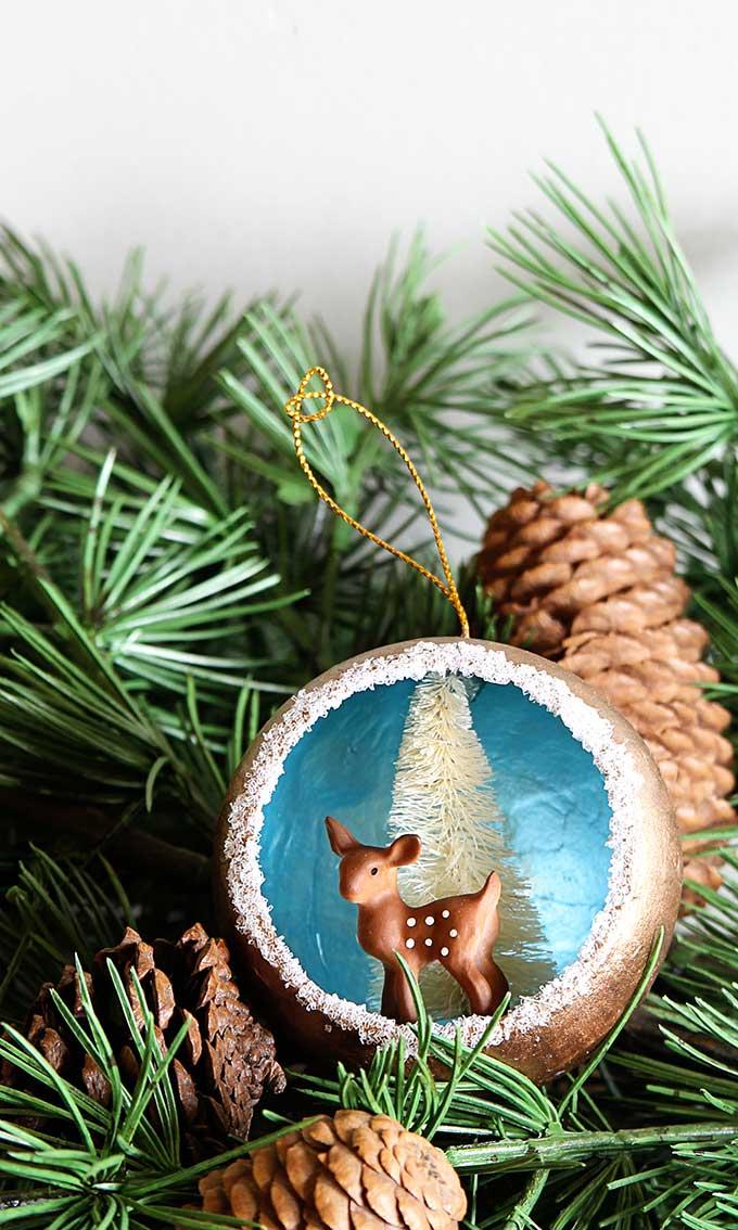 Retro Handmade Christmas Diorama Ornaments - House of Hawthornes
