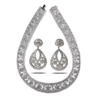 Diamond Necklace and Earrings Set - House of Kahn Estate ...