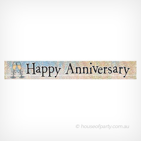 Banner Foil - Happy Anniversary - House of Party
