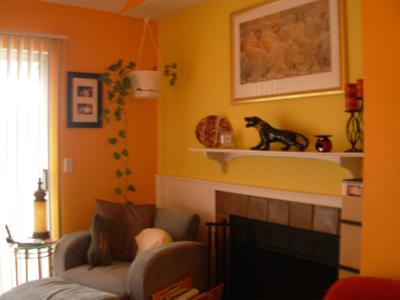 Bright Yellow Focal Wall In My Apartment