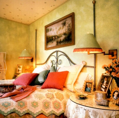 Sponge Painted Living Room Finished