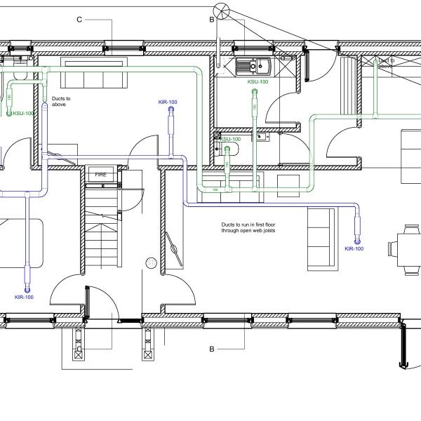 home hvac system schematic