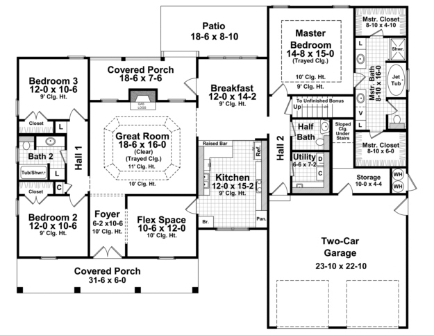 French Country Plan 2007 Square Feet 3 Bedrooms 25
