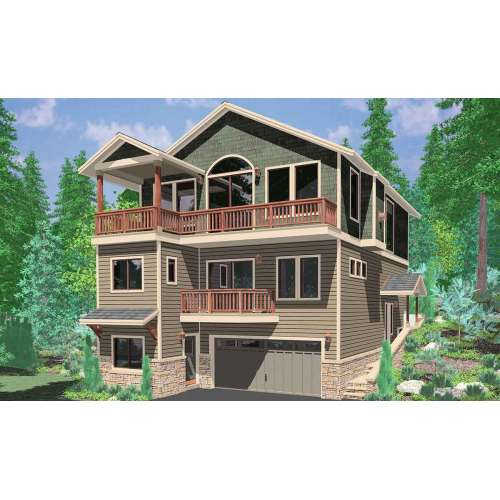 Medium Crop Of House Plans For Narrow Lots