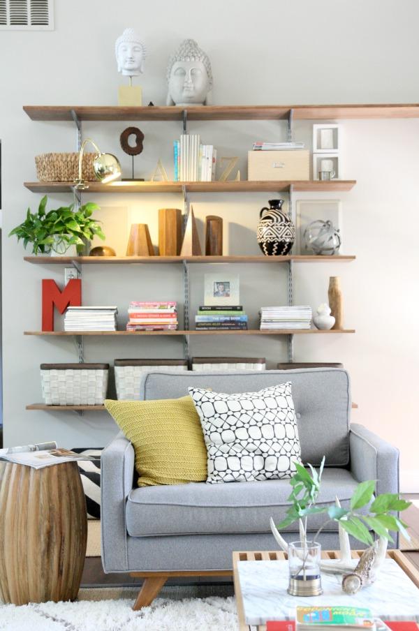 A Light for the Living Room Shelves