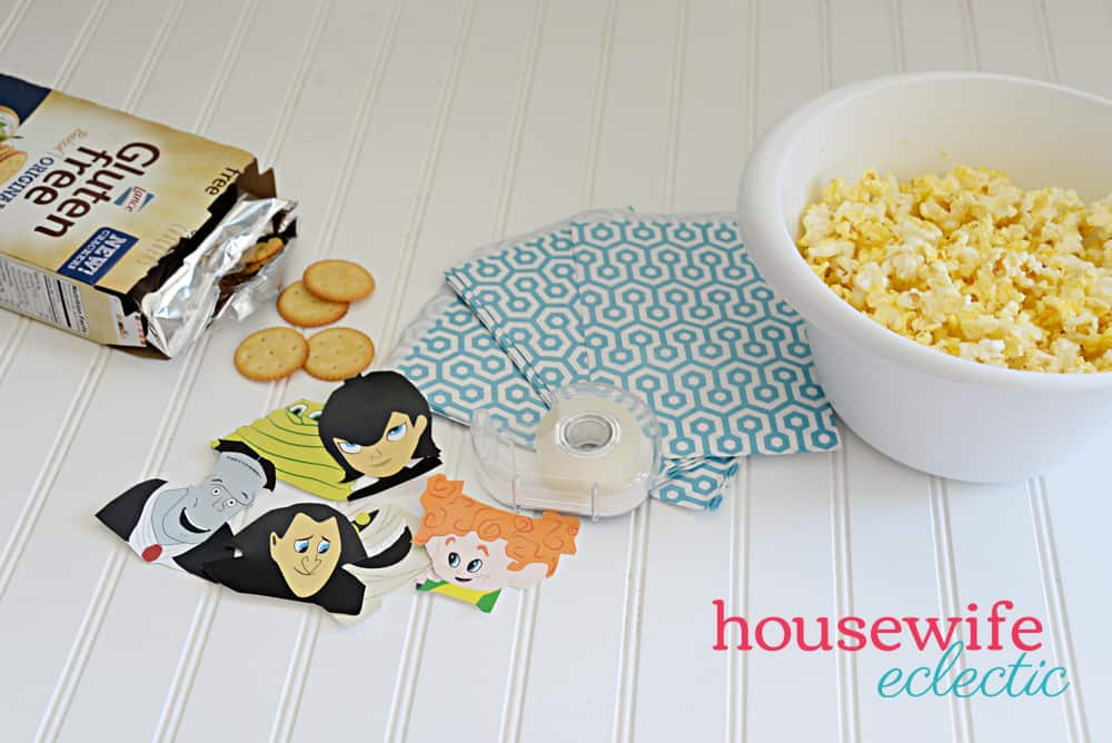 Hotel Transylvania Snack Bags with Free Printable - Housewife Eclectic