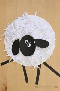Sheep Paper Plate & How To Make A Paper Plate Lamb Sc 1 St ...