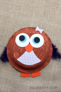 Paper Plate Owl | Housing a Forest