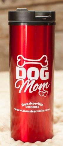 "16 oz. Metallic Red ""Dog Mom"" Slim Tumbler"