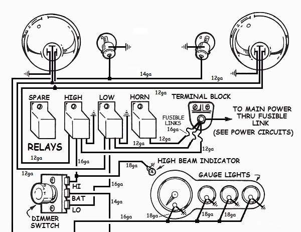 very simple rat rod wiring diagram