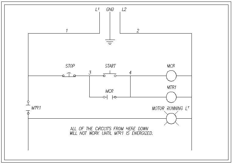 wiring diagram start stop motor control