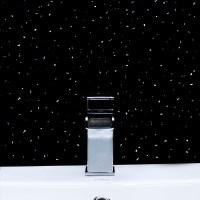 Black & White Sparkle PVC Bathroom Wet Wall Cladding ...