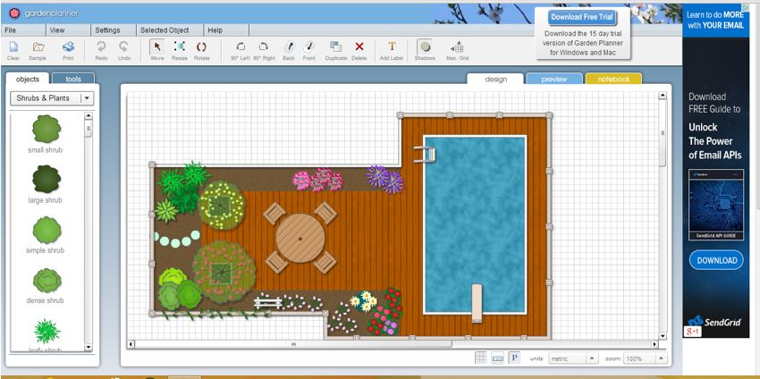 Virtual Online Garden Planner at SmallBluePrinter H2S Media