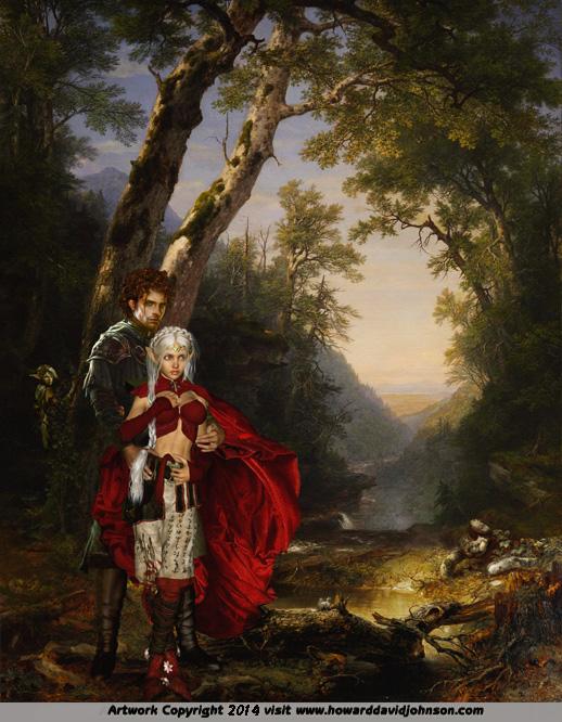 Faerie Girl Wallpaper The Fairy Tale Art Of Howard David Johnson Contemporary