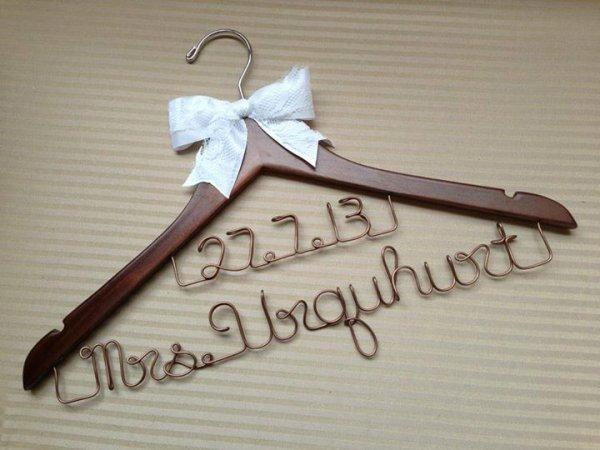 Bridal Couple Coat Hanger With Wedding Date Personalised
