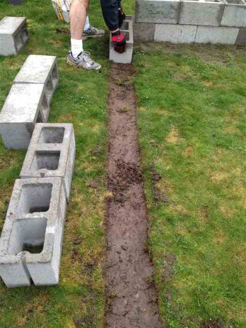 Medium Of Cinder Block Garden