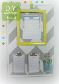 Modern & Bloom - DIY Message Board