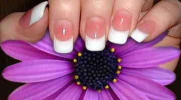 White nails on purple flower