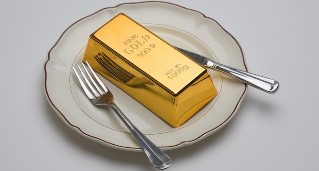 Expensive Gold food