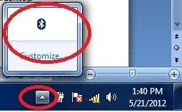 bluetooth icon in windows 7