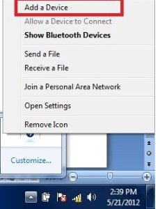 add device in windows 7