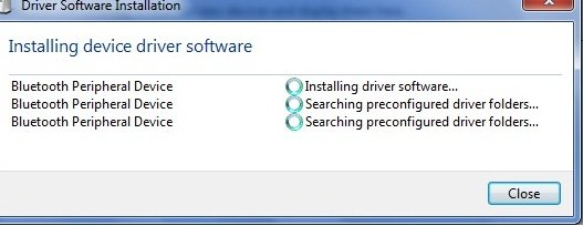 bluetooth driver Install in windows 7