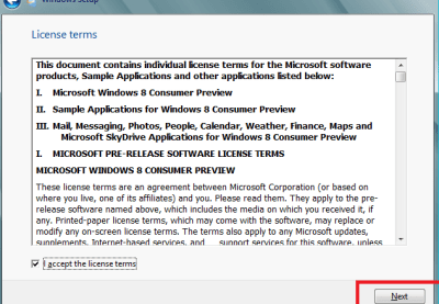 windows 8 licence agreement