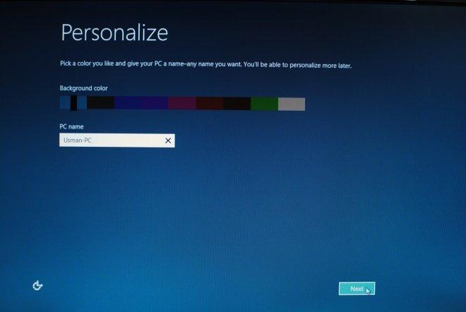 Personalize windows 8 Setting