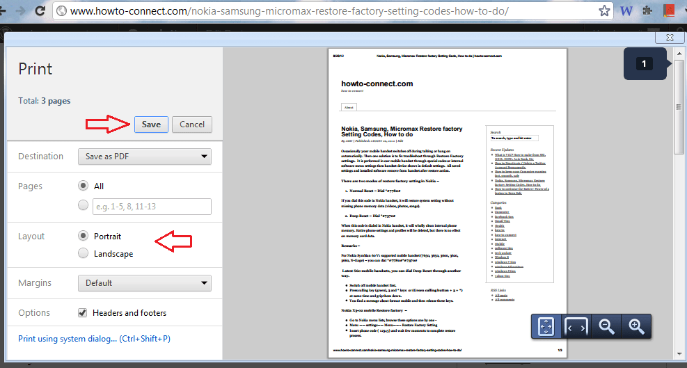 chrome save web pages in pdf