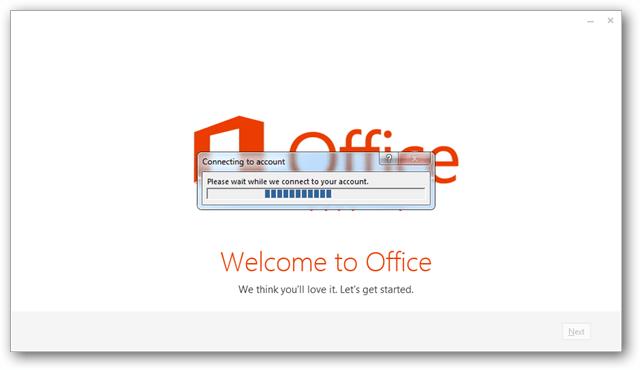 Setup office 2013 connect internet