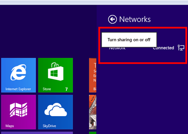 activate windows 8 homegroup sharing image