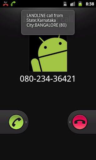 android app landline number find